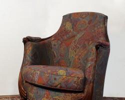 102 Poltroncina legno in tessuto collezione liberty