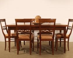 105  tavolo e sedie ciliegio