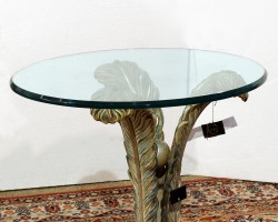 128 Tavolino legno intagliato policromo