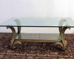 136 Tavolo salotto legno intarsi policromi