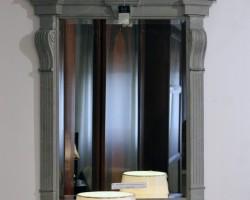 60 Specchiera legno finitura pietra